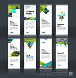 Abstract business vector set of modern roll Up Banner stand desi Royalty Free Stock Images