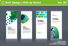 Abstract business vector set of modern roll Up Banner stand design template Royalty Free Stock Photo