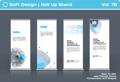 Abstract business vector set of modern roll Up Banner stand design template Stock Photos