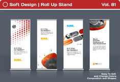 Abstract business vector set of modern roll Up Banner stand design template Stock Images