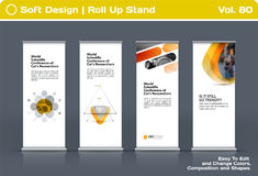 Abstract business vector set of modern roll Up Banner stand design template Stock Photography