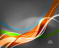 Abstract business wave lines on grey background Stock Photo