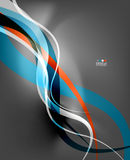 Abstract business wave lines on grey background Stock Photography