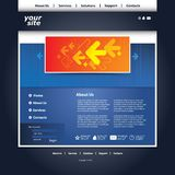 Abstract business web site design template Royalty Free Stock Photography