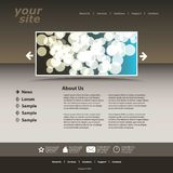 Abstract business web site design template. Light brown and blueish abstract business web site design template Royalty Free Stock Photos