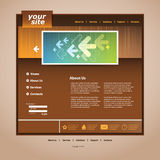 Abstract business web site design template  Royalty Free Stock Image
