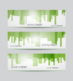 Abstract business website banner set Stock Image