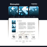 Abstract Business Website Design Template Vector Stock Photo