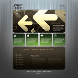 Abstract business website template Stock Photos