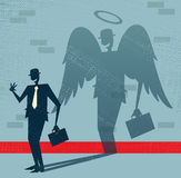 Abstract Businessman is Angel in Disguise. Stock Images