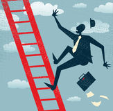 Abstract Businessman falls of the Corporate Ladder Stock Images
