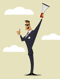 Abstract Businessman with Megaphone. Royalty Free Stock Photos