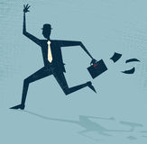 Abstract Businessman Running Late. Royalty Free Stock Images