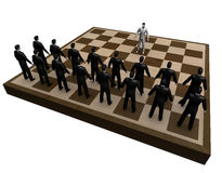Abstract  businessmen chess Stock Photo