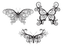 Abstract butterflies vector illustration