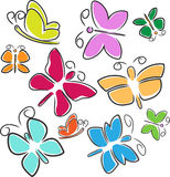 Abstract Butterflies Stock Photos