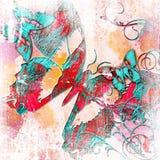 Abstract butterflies vector illustration