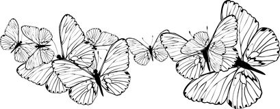 Abstract butterflies background Royalty Free Stock Image