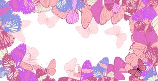 Abstract butterflies background Stock Image