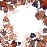 Abstract butterflies background Stock Photos