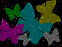 Abstract butterflies Royalty Free Stock Image