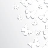 Abstract butterflies paper background Stock Photos