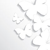 Abstract butterflies paper background Stock Image