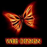 Abstract butterfly. Abstract isolated butterfly web design vector illustration