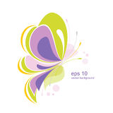 Abstract butterfly. Background with abstract butterfly. A royalty free illustration