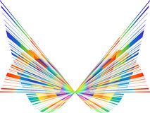 Abstract butterfly. Colorful abstract butterfly vector illustration stock illustration