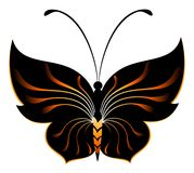 Abstract butterfly. Beautiful abstract butterfly for design Stock Photos