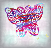 Abstract butterfly background in grunge style Royalty Free Stock Photos