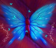 Abstract butterfly Background. Abstract Wallpaper Colorful, Butterfly, Extrude stock illustration