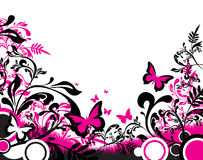 Abstract butterfly banner Stock Image
