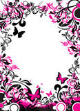 Abstract butterfly banner Royalty Free Stock Images