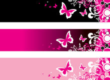 Abstract butterfly banner Royalty Free Stock Image
