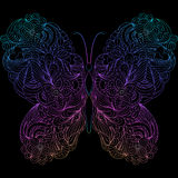 Abstract butterfly on black background Royalty Free Stock Photos