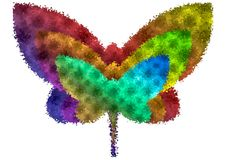 Abstract butterfly. Colorful abstract butterfly vector, as a logo or illusion design. Large file size Royalty Free Illustration