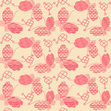 Abstract butterfly decorative batik seamless pattern. Abstract seamless pattern of indonesian batik Stock Image
