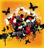 Abstract butterfly design. A illustration of abstract butterfly images for t-shirt design Royalty Free Stock Photos
