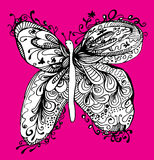 Abstract butterfly drawing Royalty Free Stock Photos
