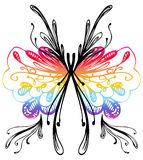 Abstract butterfly drawing Stock Photos