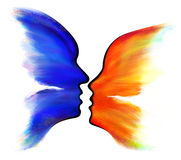 Abstract Butterfly. And face silhouette royalty free illustration