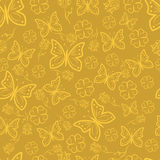 Abstract butterfly and floral pattern Stock Photography