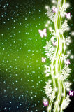 Abstract butterfly flower light background Stock Photo