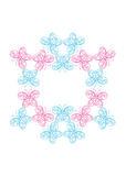 Abstract butterfly frame. Abstract background with ornate butterfly wreath, vector illustration Royalty Free Stock Image