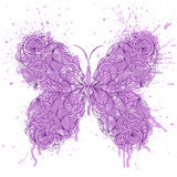 Abstract butterfly on grunge splash Royalty Free Stock Photos