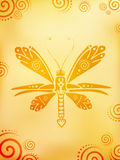 Abstract butterfly illustration Royalty Free Stock Image