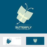 Abstract butterfly logo Stock Images