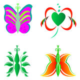 Abstract butterfly logos Royalty Free Stock Photo